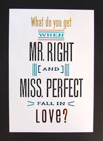 Jumbo Card: Hallmark Colossal Mr Right Miss Perfect