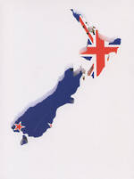 Pure NZ - Kiwiana: NZ Flag Map