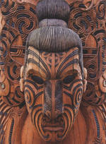 Pure NZ - Kiwiana: Maori Carving Face