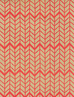 Folded Wrap: Red Chevron