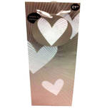 Gift Bag: Bottle - General Special Occasion Hearts