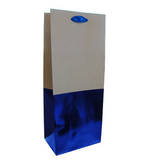 Gift Bag: Bottle - Male Blue Kraft
