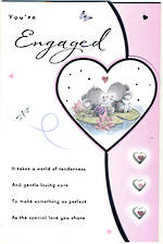 Engagement Card: Cute Mice Sentiment