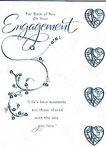 Engagement Card: For Both Silver Foiled
