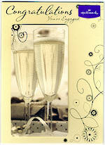 Engagement Card: Champagne Flutes