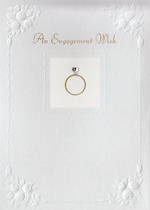 Engagement Card: Hallmark Ring Embossed