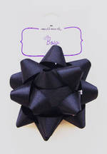 Bow: Fabric Black Satin