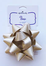 Bow: Fabric Gold Satin