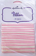 Ribbon: Fabric Pink Stripes Cotton 2m