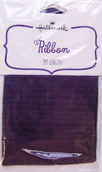 Ribbon: Fabric Purple Satin 2m