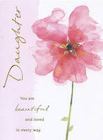 Daughter Birthday Card: Beautiful And Loved