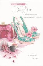 Daughter Birthday Card: Shoes