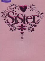 Sister Birthday Card: Glam Pink Foil