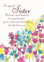 Sister Birthday Card: Flowers