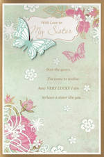 Sister Birthday Card: Hallmark With Love Butterfly