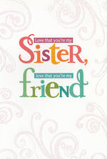 Sister Birthday Card: Hallmark My Friend