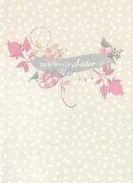 Sister Birthday Card: Hallmark Bird Floral