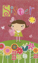 Hallmark Value: Birthday Sister Flitter Sky