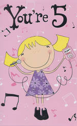 Hallmark Value: Age 5 Girl With Music