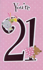Hallmark Value: Age 21 Fem Bear & Gift