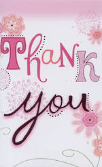 Hallmark Value: Thank You Pink Floral