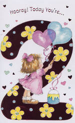 Hallmark Value: Age 2 Girl With Balloons