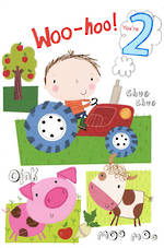 Age Card 2: Boy Tractor Farm