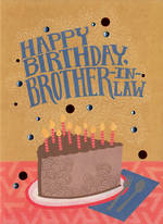 In Laws Birthday Card: Hallmark Brother In Law Cake