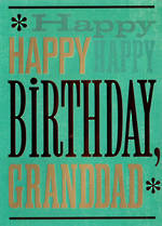 Grandad Birthday Card: Hallmark Text Happy Happy