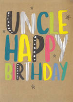 Uncle Birthday Card: Brights