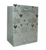 Gift Bag: Small - Wedding Premium Silver