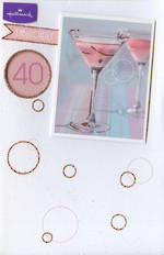 Age Card 40 Female Pink Martini