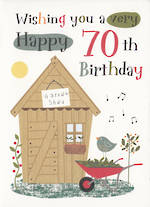 Age Card 70 Male Garden Shed