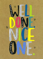Congratulations Card: Well Done