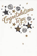 Congratulations Card: To You Gold
