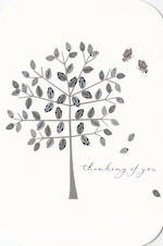 Sympathy Card: Thinking Of You Silver Tree