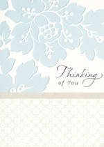 Sympathy Card: Thinking Of You Blue Flowers