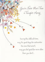Sympathy Card: Thinking Of You Never More
