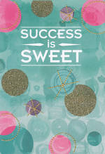 Congratulations Card: Live Beautifully Success