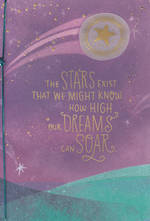 Congratulations Card: Live Beautifully Dreams