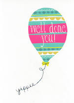 Congratulations Card: Jessica Hogarth Well Done