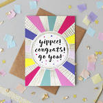 Congratulations Card: Jessica Hogarth Yippee