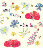 Mini Card: Best Wishes Wild Flowers