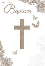 Baby Baptism Card: On Your Baptism Cross