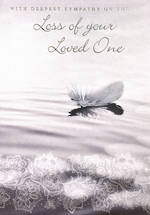 Sympathy Card: Loss Of Loved One Feather