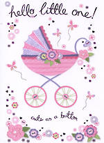 Baby Card Girl: Quiney Pram