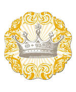 Set of 4 Cake Plates Crown