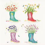 Blooming Wishes: Gumboots