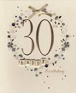 Age Card 30 Female Paper Gallery Birthday