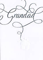 Grandad Birthday Card: Damask Grandad Present